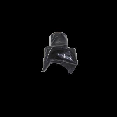 Corredera corta para sillas de ruedas de plástico en color negro